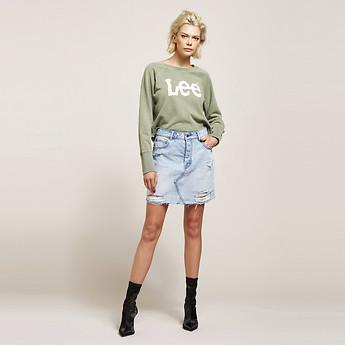 Image of Lee Jeans Australia Prarie Blue RIOT SKIRT PRARIE BLUE