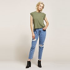 Image of Lee Jeans Australia Bird Decon HIGH MOMS BLUE BIRD DECON