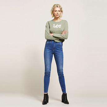 Image of Lee Jeans Australia Orion Blue SUPER HIGH LICKS ORION BLUE