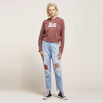 Image of Lee Jeans Australia Draft Blue HIGH MOMS DRAFT BLUE DSTRY