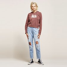 Image of Lee Jeans Australia Draft Blue HIGH MOMS DRAFT BLUE DSTRY