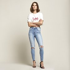 Image of Lee Jeans Australia Pulse Damage HIGH LICKS CROP PULSE DAMAGE