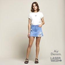 Image of Lee Jeans Australia Halcyone Blue LOLA SKIRT HALCYON DAMAGE