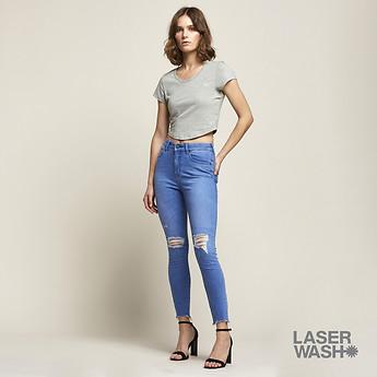Image of Lee Jeans Australia Rose Mist HIGH LICKS CROP VOLTAGE TRASH