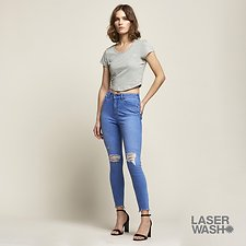 Image of Lee Jeans Australia Rose Mist HIGH LICKS CROP VOLTAGE TRASH