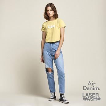Image of Lee Jeans Australia Ether Blue HIGH MOMS ETHER BLUE