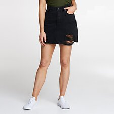 Image of Lee Jeans Australia Lunar Black Rip RIOT SKIRT LUNAR BLACK RIP