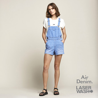 Image of Lee Jeans Australia HALCYON FADE SHORT OVERALL HALCYON FADE
