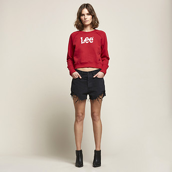 Image of Lee Jeans Australia Lunar Black Rip RIOT SHORT LUNAR BLACK RIP