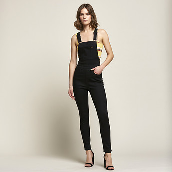 a8db7698993 Image of Lee Jeans Australia Tower Black HIGH LICKS OVERALL TOWER BLACK