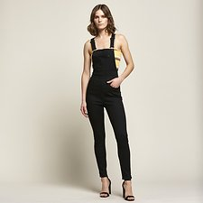Image of Lee Jeans Australia Tower Black HIGH LICKS OVERALL TOWER BLACK