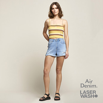 Image of Lee Jeans Australia Ether Blue STEVIE SHORT ETHER BLUE