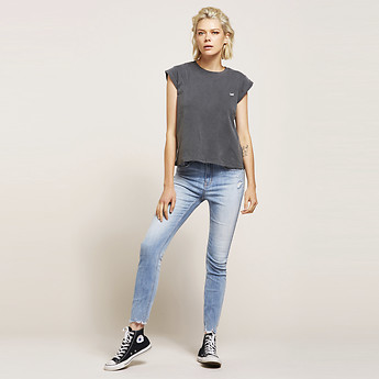 Image of Lee Jeans Australia Pulse Worn HIGH LICKS CROP PULSE WORN