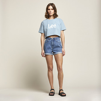 Image of Lee Jeans Australia Harlem Blue STEVIE SHORT HARLEM BLUE