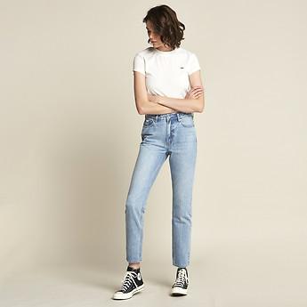 Image of Lee Jeans Australia Idol Bleach HIGH PIPES IDOL BLEACH