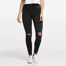 Image of Lee Jeans Australia HYSTERIC BLACK SUPER HIGH LICKS CROP HYSTERIC BLACK
