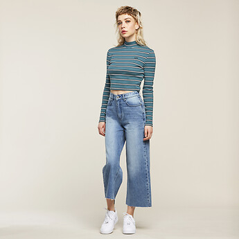 Image of Lee Jeans Australia ASTORIA HIGH WIDE CROP FOOTLOOSE