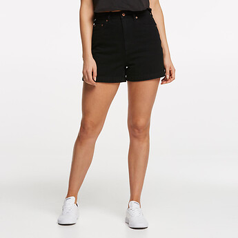 Image of Lee Jeans Australia BLACK HEAT HIGH RELAXED SHORT BLACK HEAT