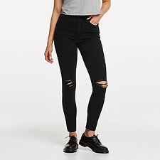 Image of Lee Jeans Australia GRAZED BLACK HIGH LICKS CROP GRAZED BLACK